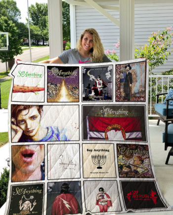 Say Anything Quilt Blanket