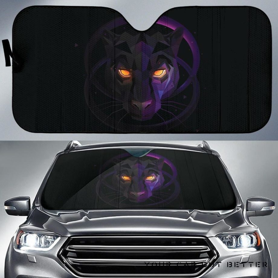 Black Panther Car Auto Sun Shades 1 230916