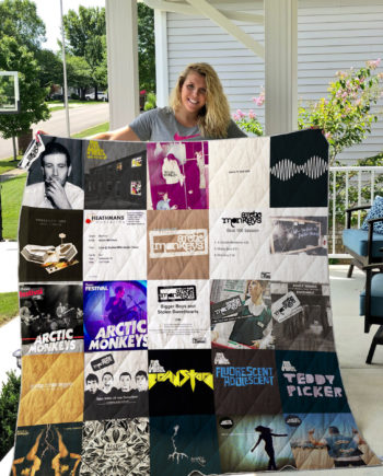 Arctic Monkeys Quilt Blanket