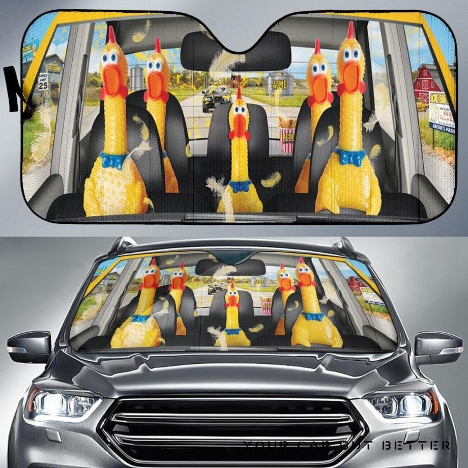 Chicken Funny Car Auto Sun Shades 230916