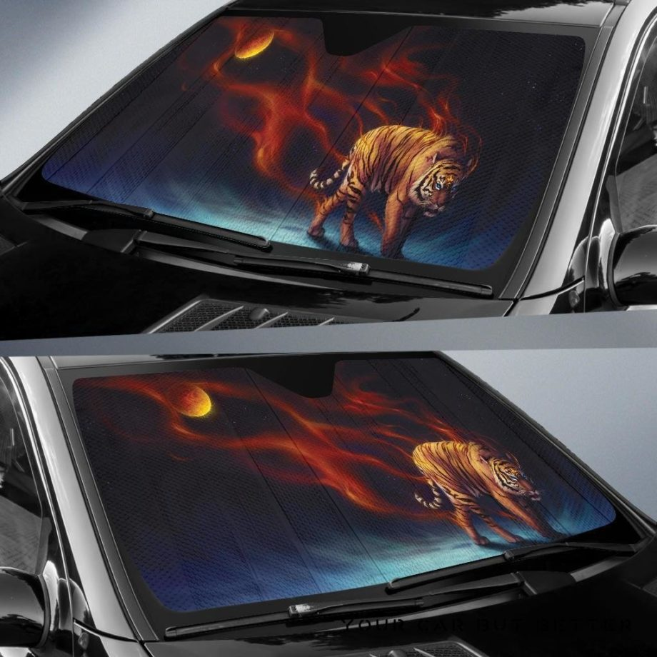 Fire Tiger Car Auto Sun Shades 230916