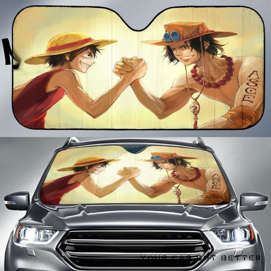 One Piece Monkey D Luffy Vs Portgas D Ace Car Auto Sun Shades 230916