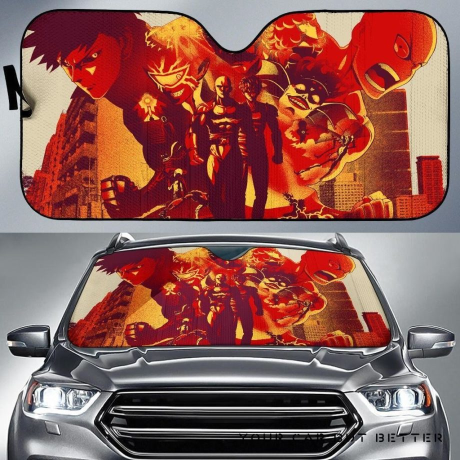 One Punch Man Anime Car Auto Sun Shades 230916