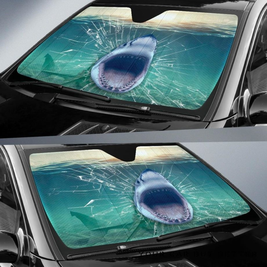 Shark 3D Car Auto Sun Shades 230916