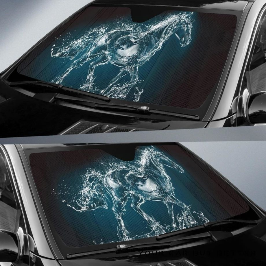 Water Horse Car Auto Sun Shades 230916