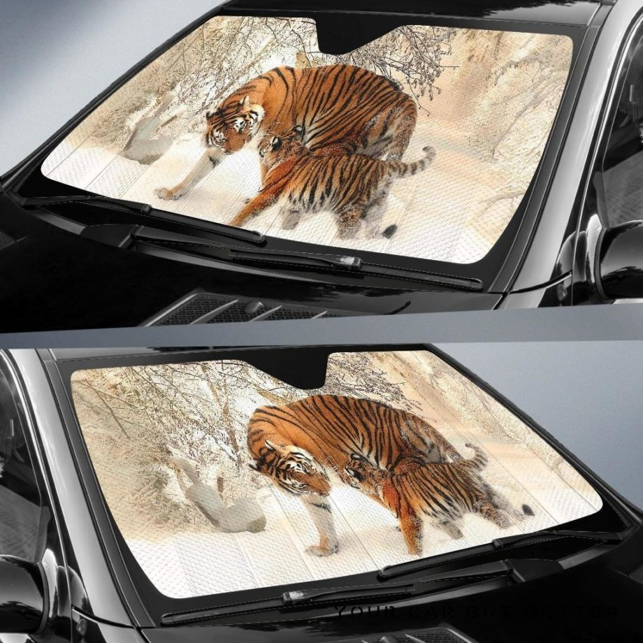 Winter Tiger Car Auto Sun Shades 230916