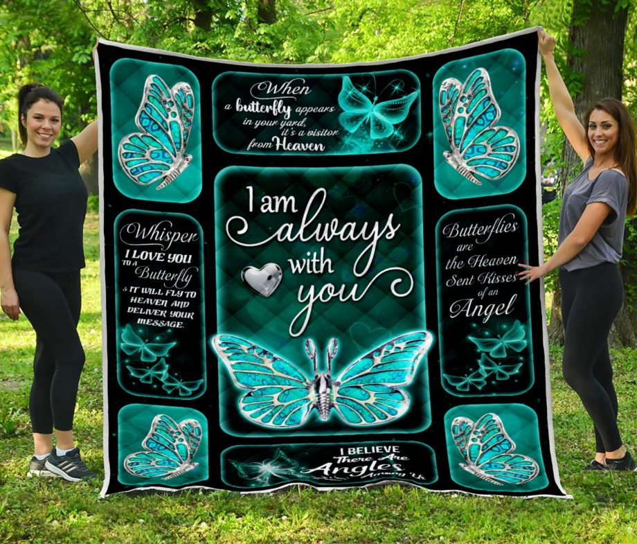 I am always with you Butterfly Silver Quilt KP-90
