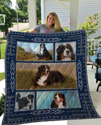 Bernese Mountain Dog Quilt Blanket LC2