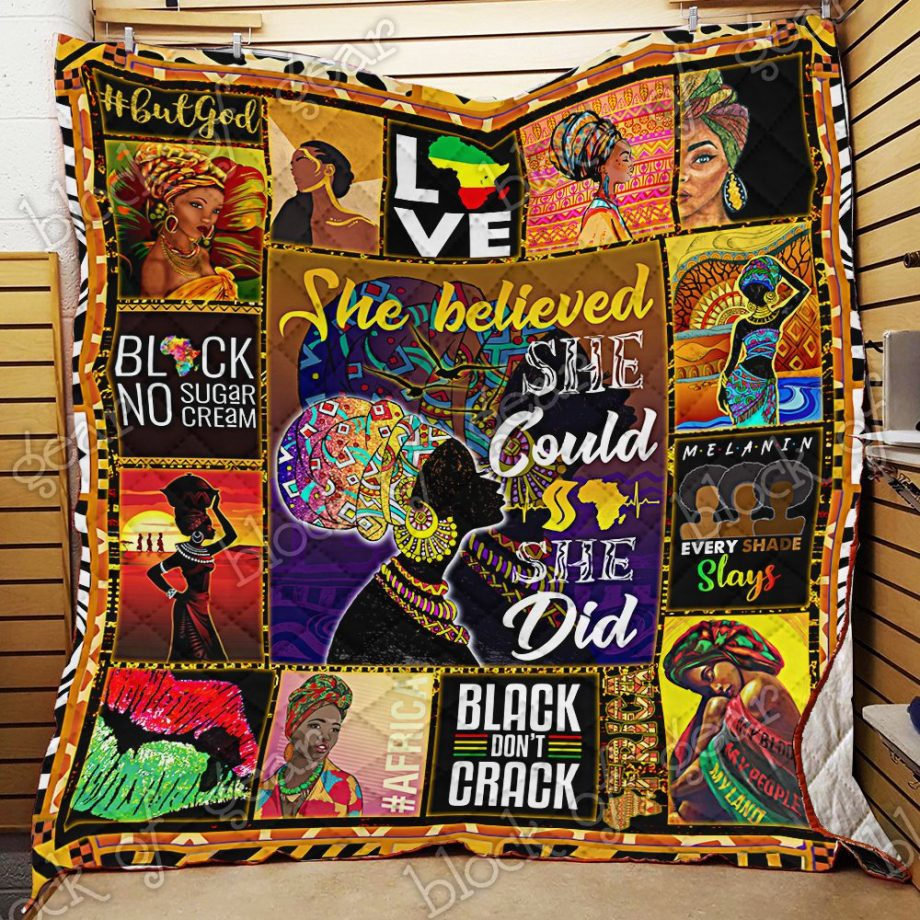 I Love Being A Black Woman Quilt PN694