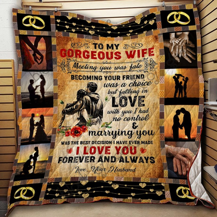 To My Gorgeous Wife Quilt KPW793 KP-38
