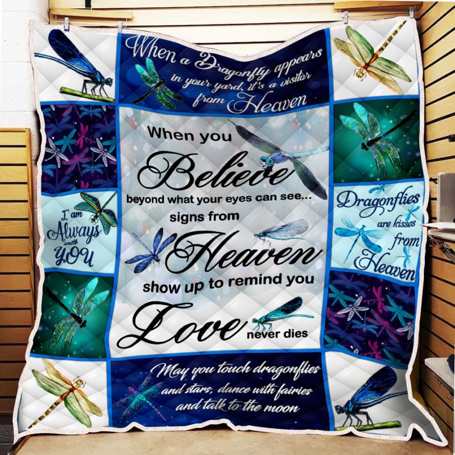 Dragonfly When You Believe Quilt KP-98