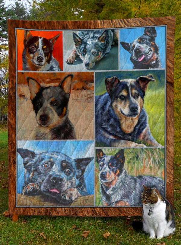 Australian Cattle Dog D8021 Quilt Blanket