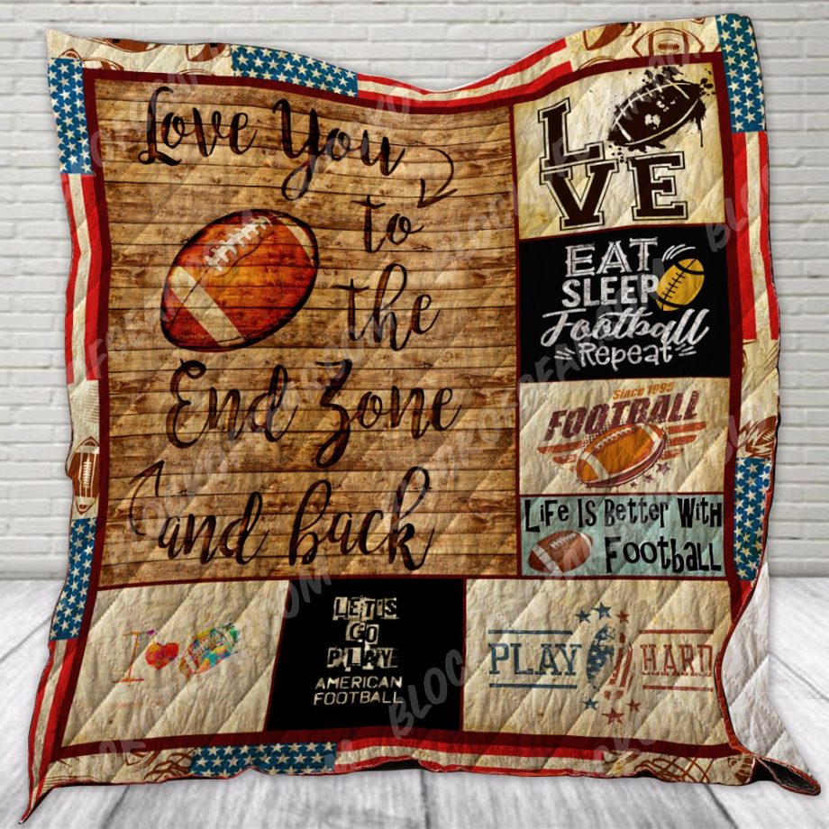I Love You To The End Zone And Back Quilt SS166 KP-127