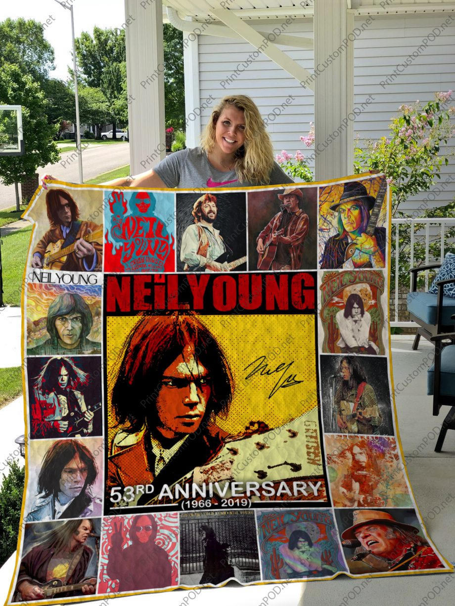 H Neil Young Quilt Blanket