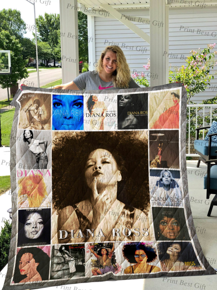 Diana Ross Albums Cover Poster Quilt