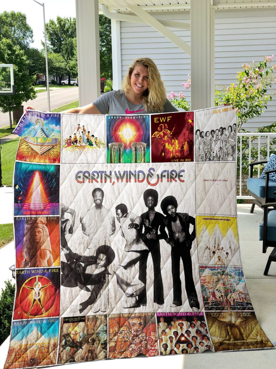 Earth, Wind amp Fire Quilt Blanket 01078