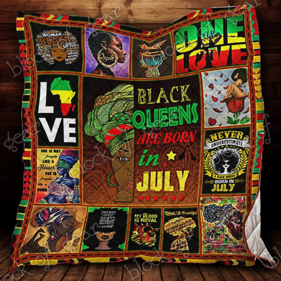 Black Queens Are Born In July Quilt P553bq7 KP-154