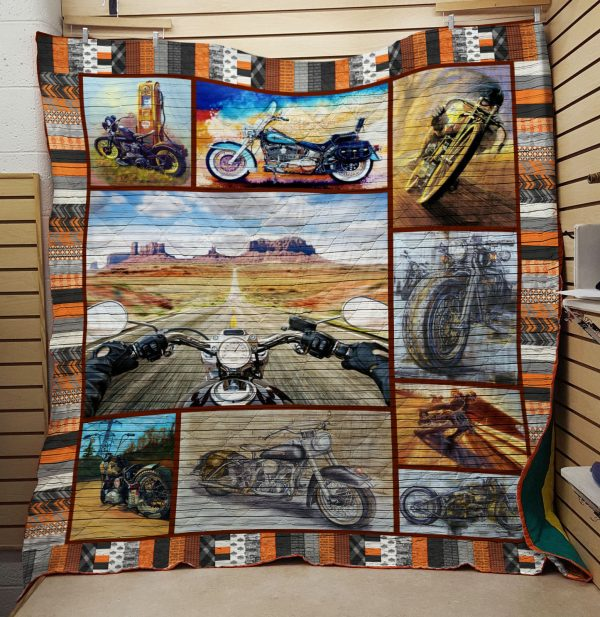 Motorcycle 8030223 Quilt Blanket