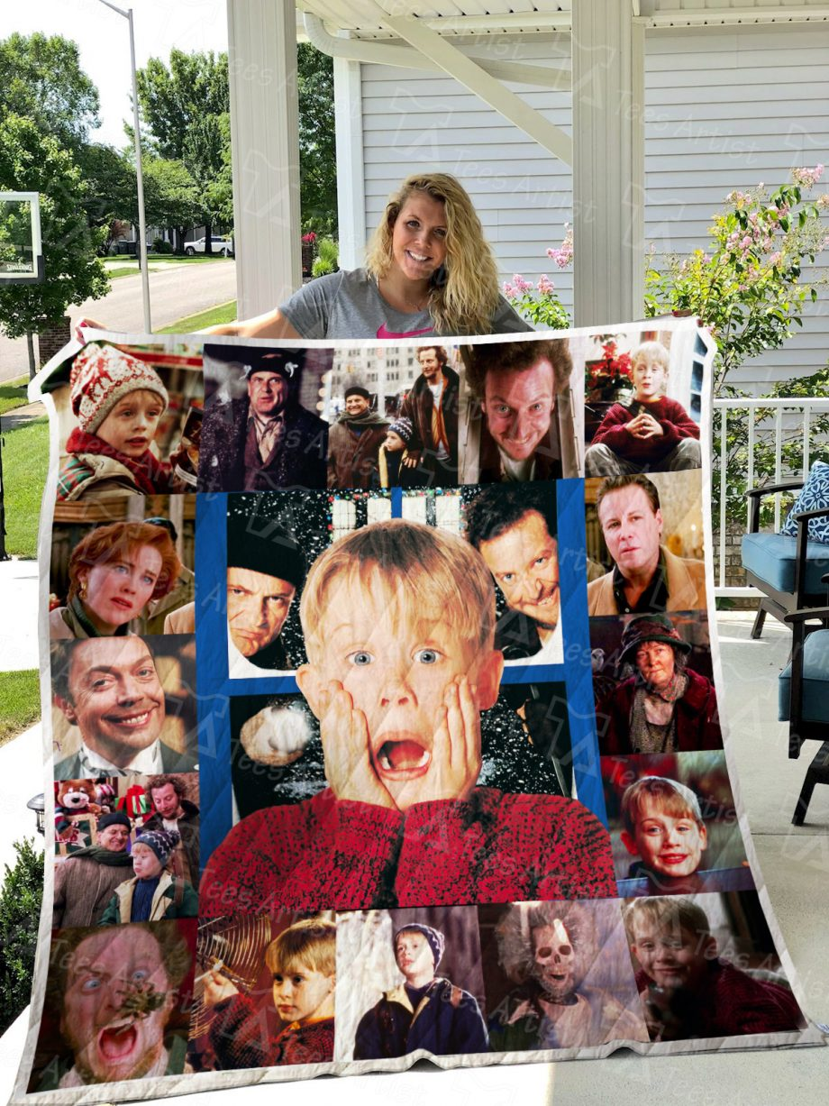Home Alone Quilt Blanket 0639