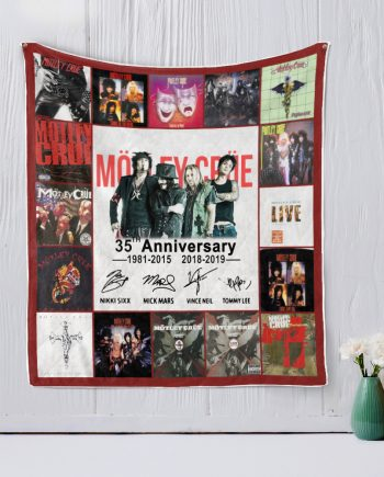 35 Years Of Motley Crue Thank You For The Memories Quilt Blanket