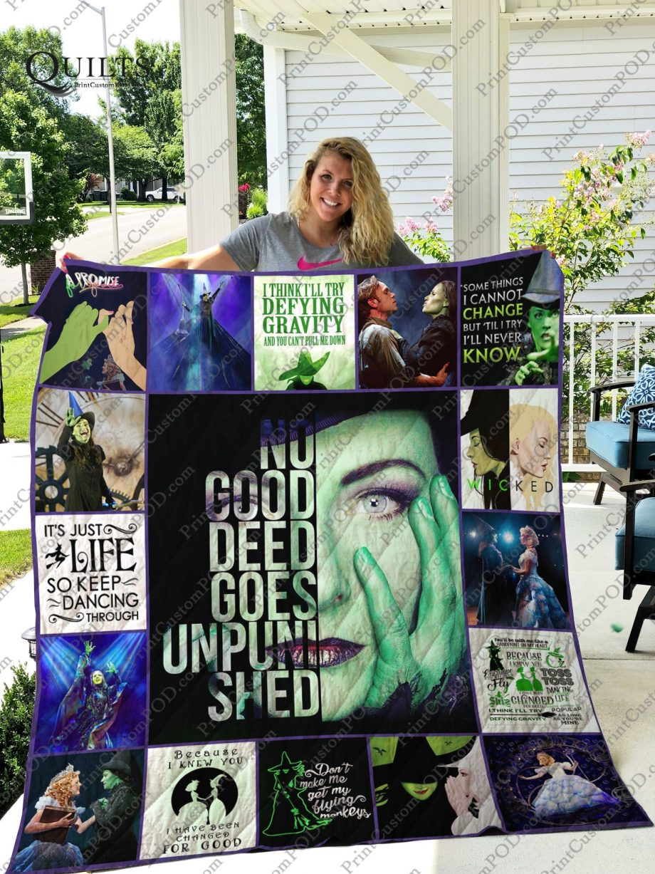 Mofi   Idina Menzel  Wicked Quilt Blanket For Fans Ver 171