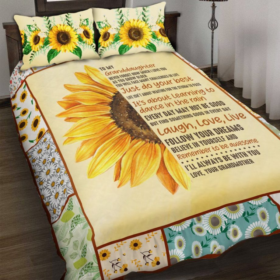 My Granddaughter I Love You Bedding Set MH29