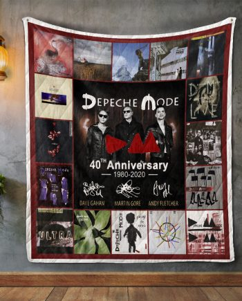 40 Years Of Depeche Mode 19802020 Quilt Blanket