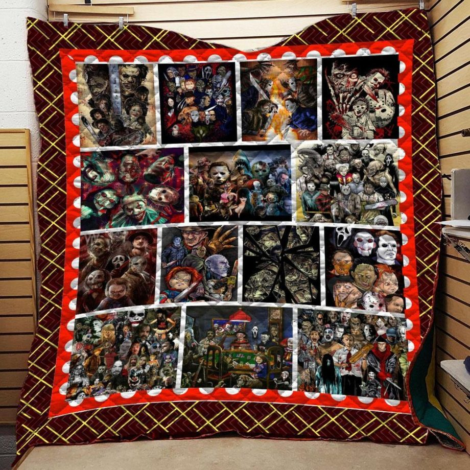 Horror Squad Quilt Blanket A1