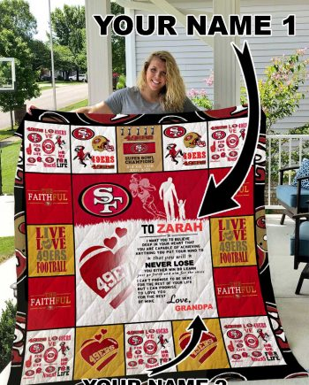 49ers Personalized Name Quilt