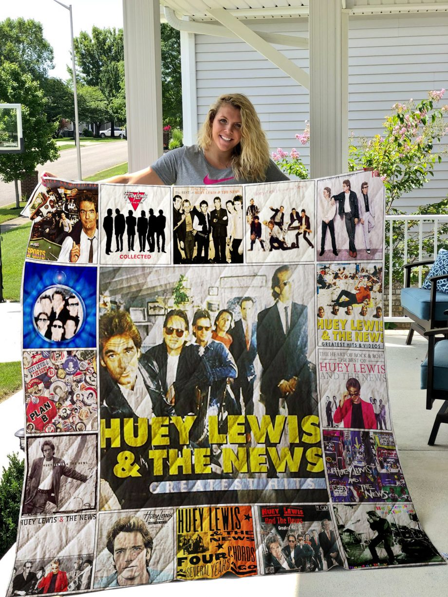 Huey Lewis amp The News Quilt Blanket 01303
