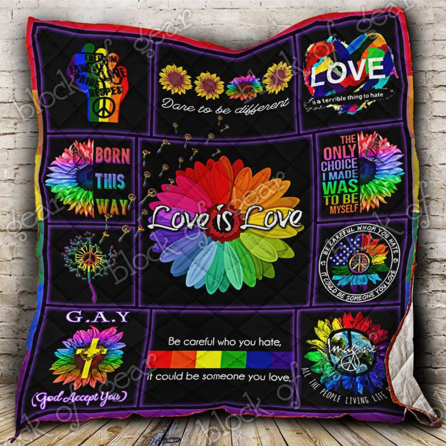 Peace Love Equality Pride Quilt P242 KP-158