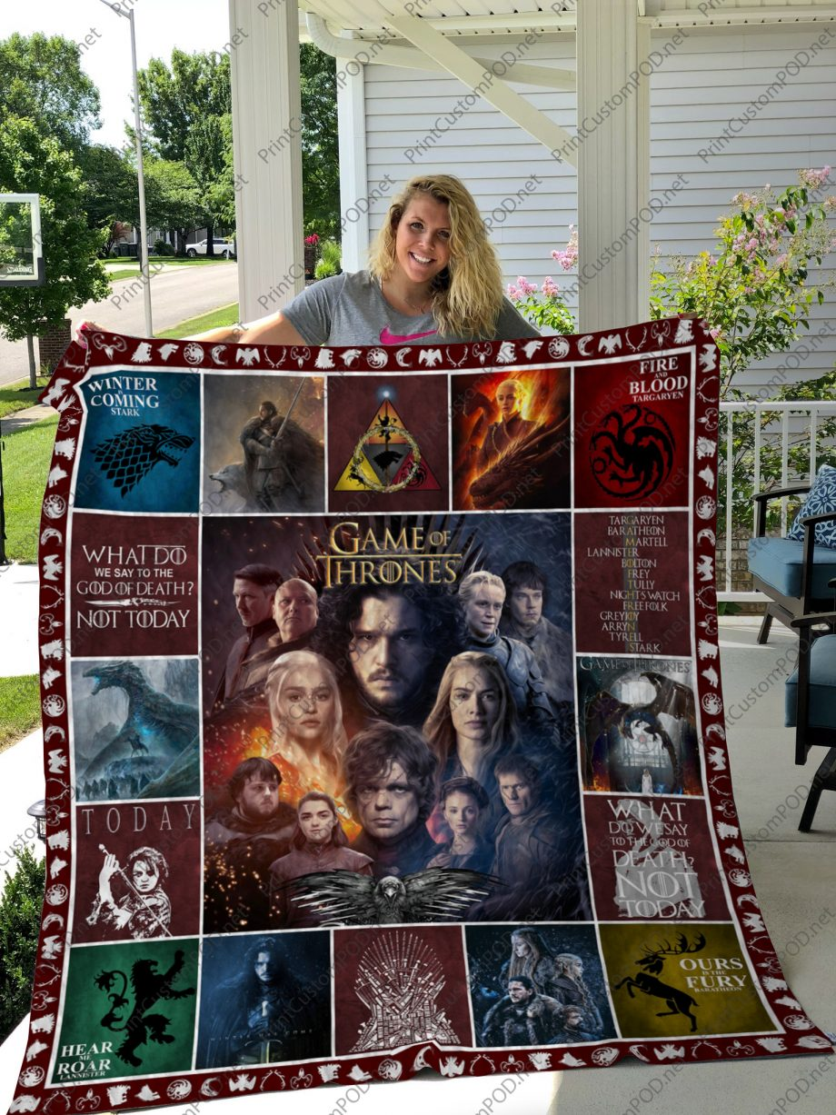 H Game Of Thrones Quilt Blanket For Fan