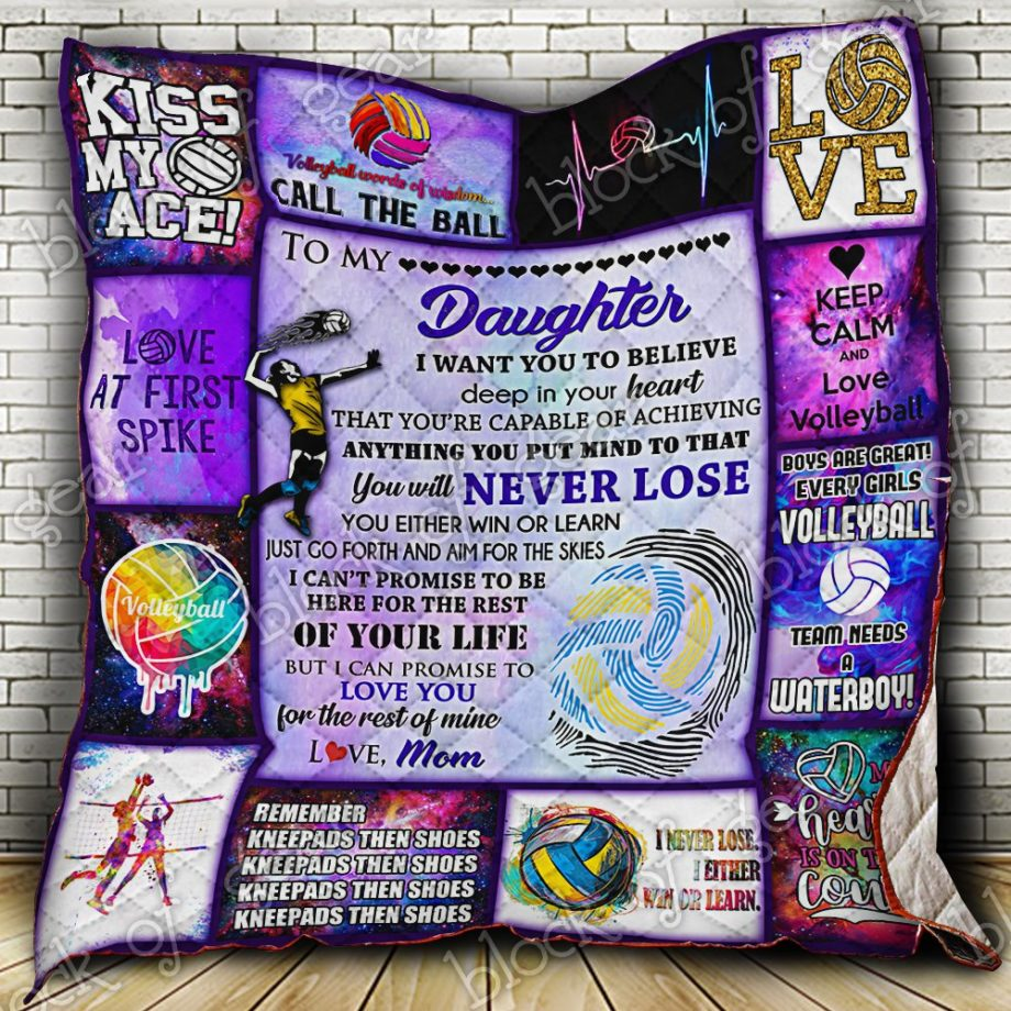 Volleyball Daughter, Love, Mom Quilt PN444SC1 KP-169