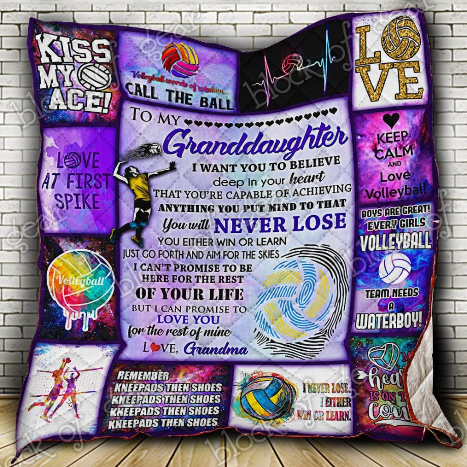 Volleyball Grandddaughter, Love, Grandma Quilt PN444SC2