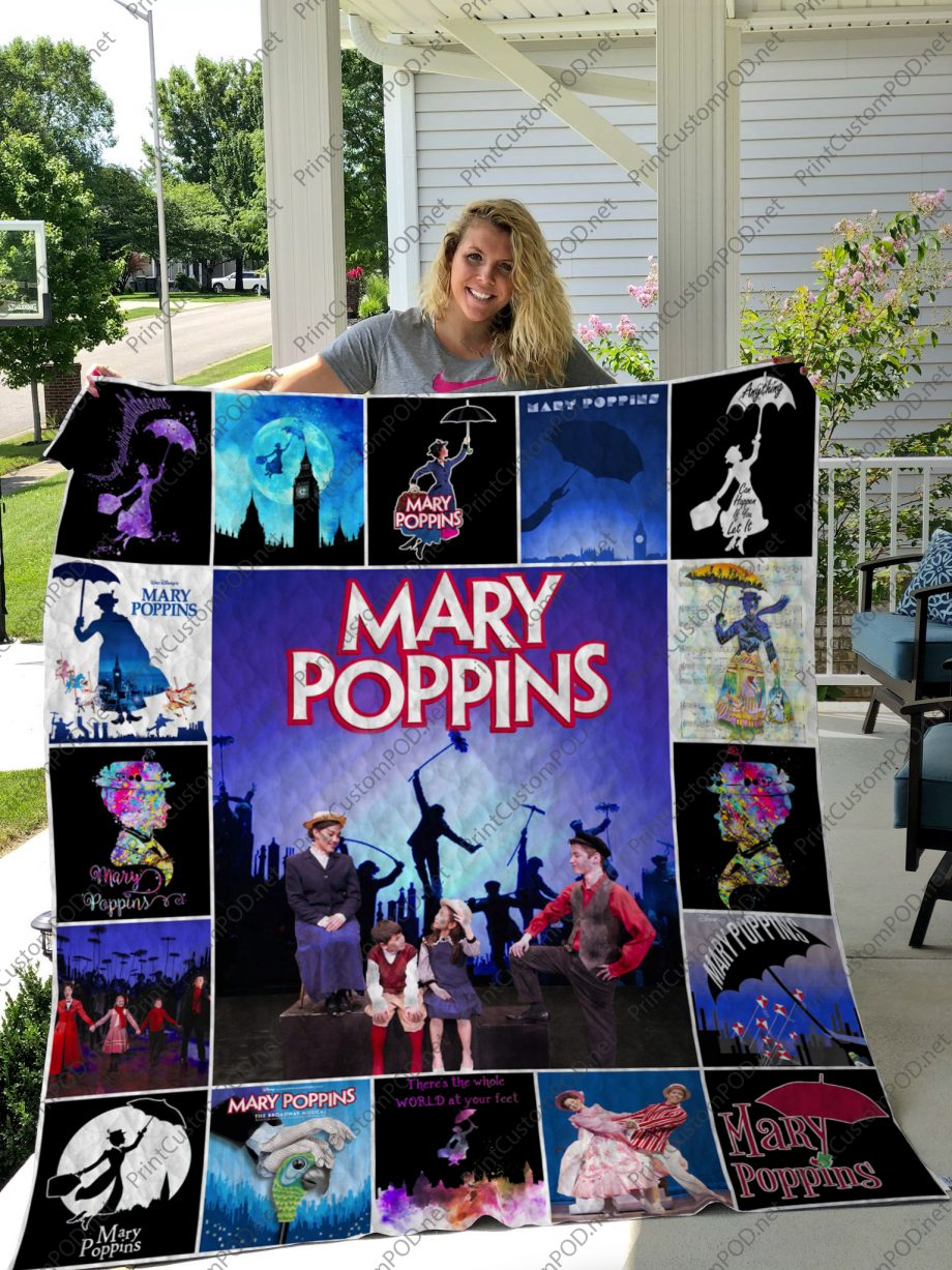 H Mary Poppins Quilt Blanket