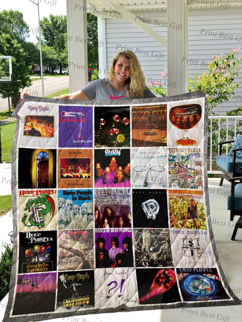 Deep Purple Albums Cover Poster Quilt Ver 2