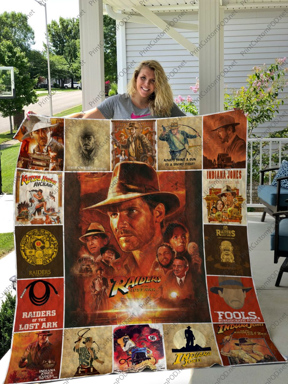 H Raiders of the Lost Ark Quilt Blanket