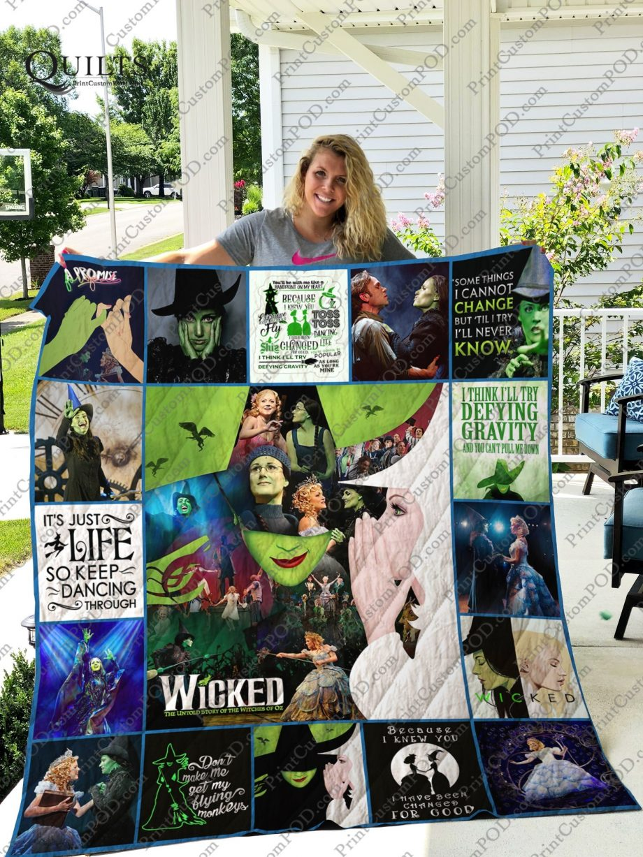 Mofi Idina Menzel Wicked Quilt Blanket For Fans Ver 172