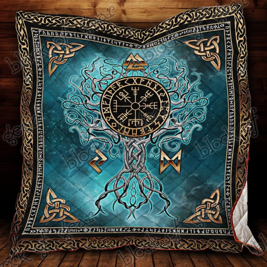 Yggdrasil Tree Of Life With Vegvisir Quilt PS592 KP-54