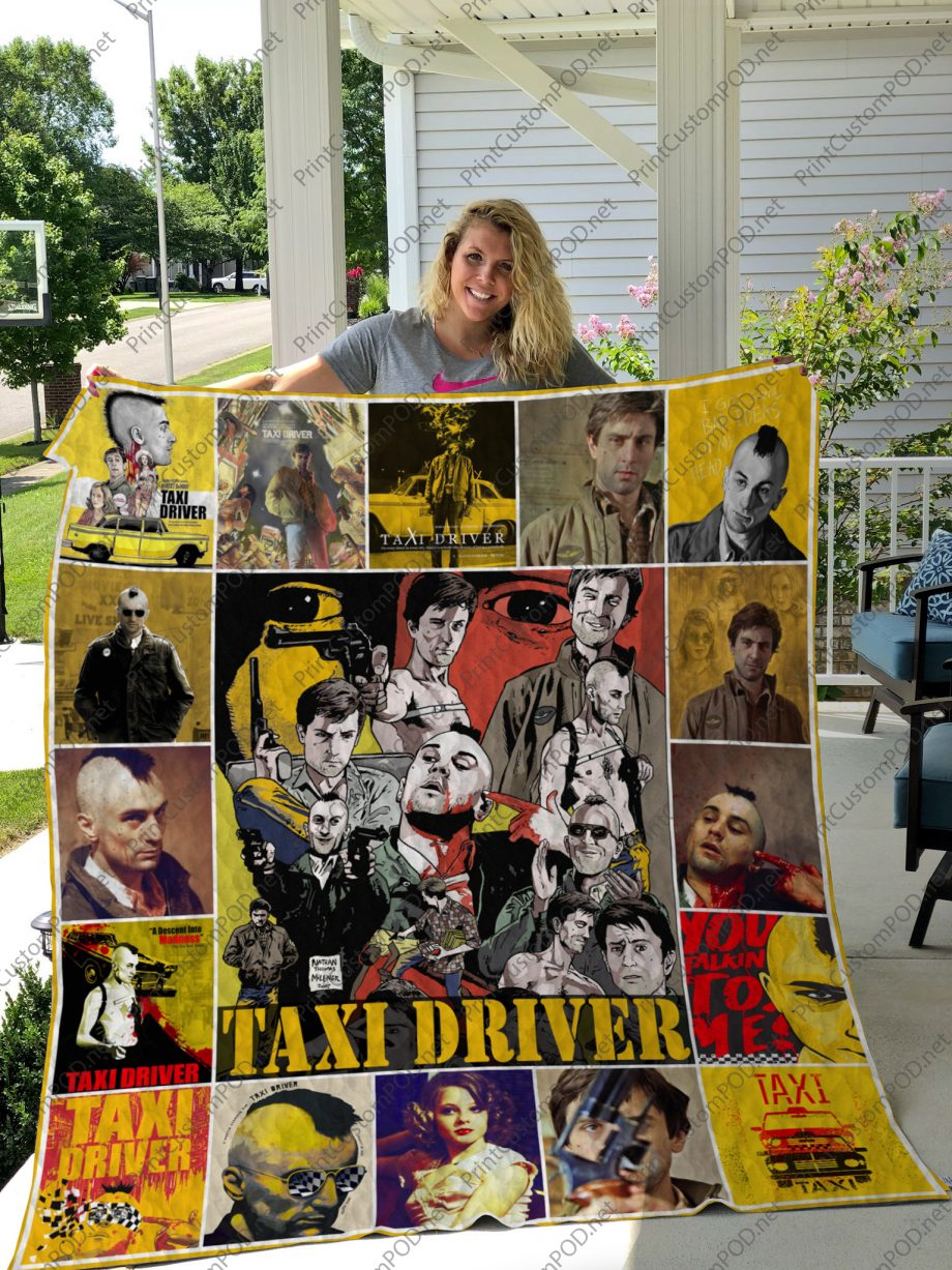 H Taxi Driver Quilt Blanket