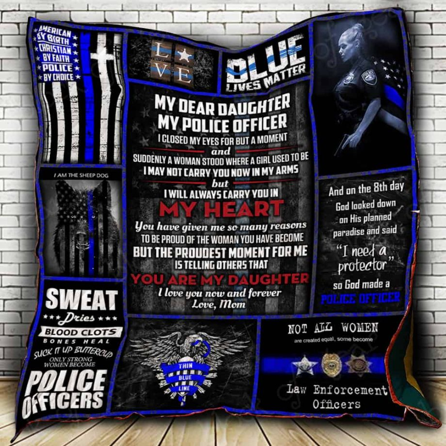 My Daughter My Police Officer Quilt P323n1