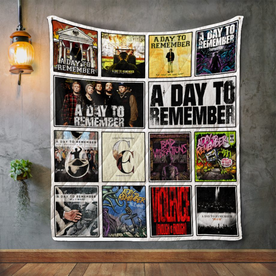 A Day to Remember Album Covers Quilt Blanket