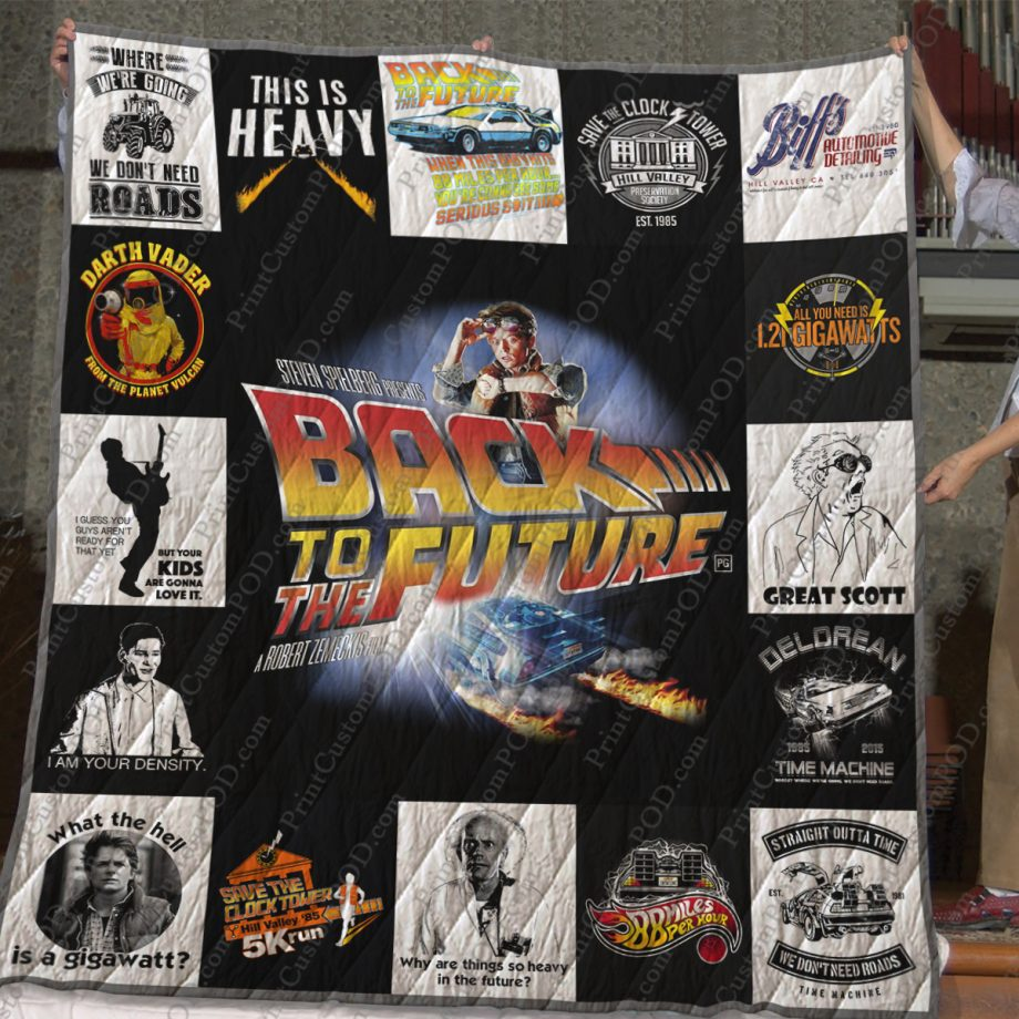 Back To The Future Quilt Blanket For Fans