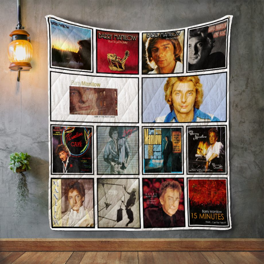 Barry Manilow Album Covers Quilt Blanket