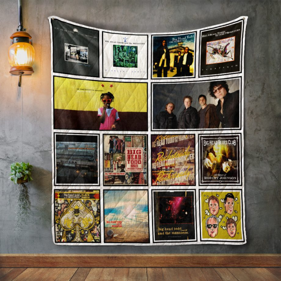 Big Head Todd and the Monsters Album Covers Quilt Blanket
