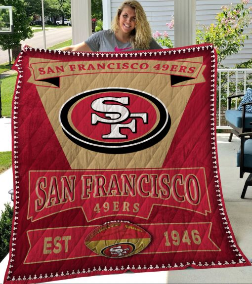 San Francisco 49Ers Sf49 Quilt Blanket LC3
