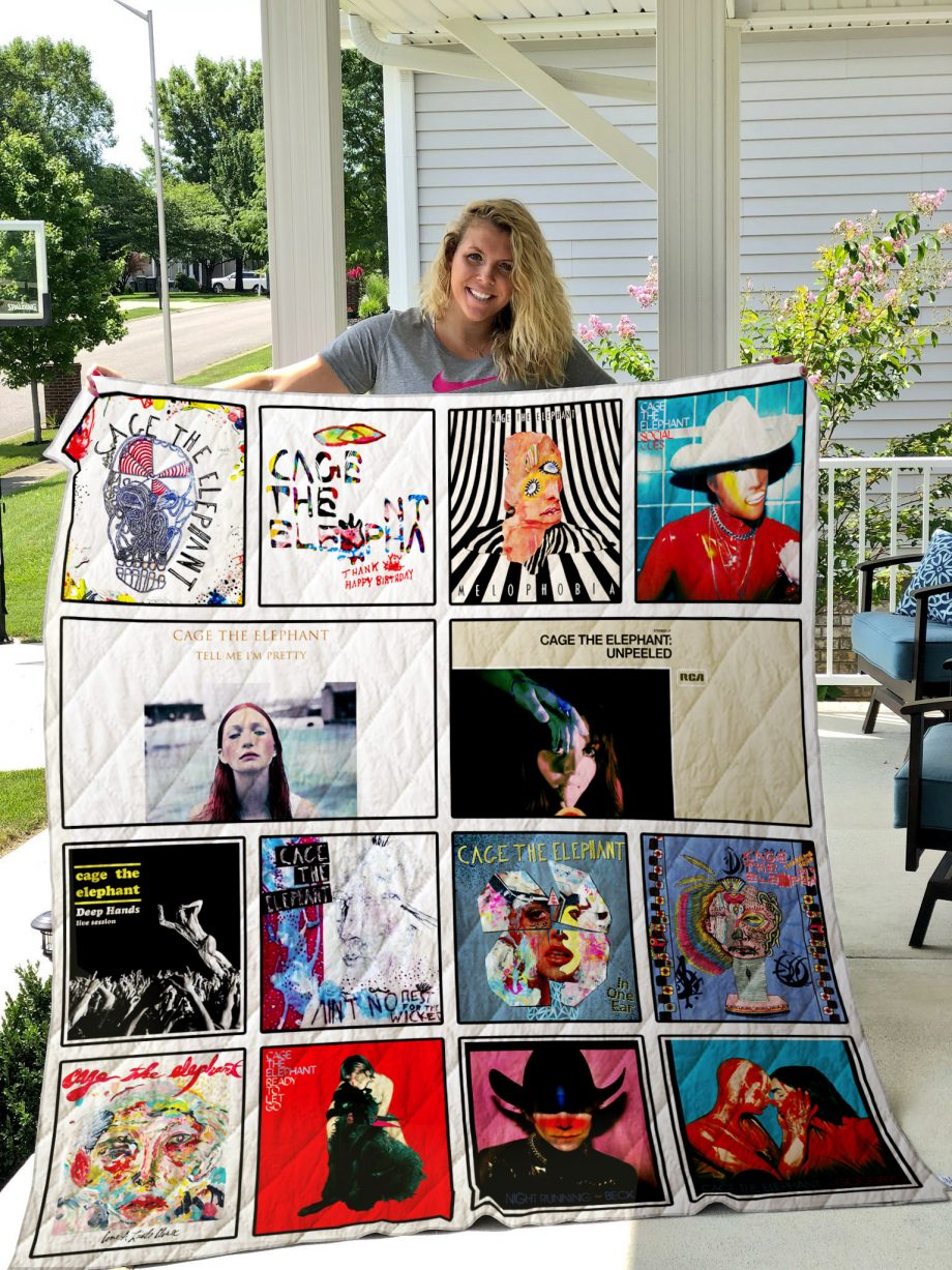 Cage the Elephant Quilt Blanket