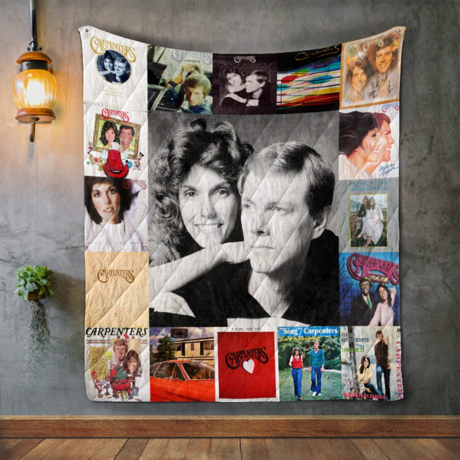 Carpenters Style Two Album Covers Quilt Blanket