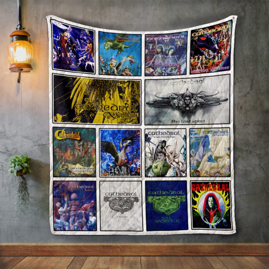 Cathedral Album Covers Quilt Blanket