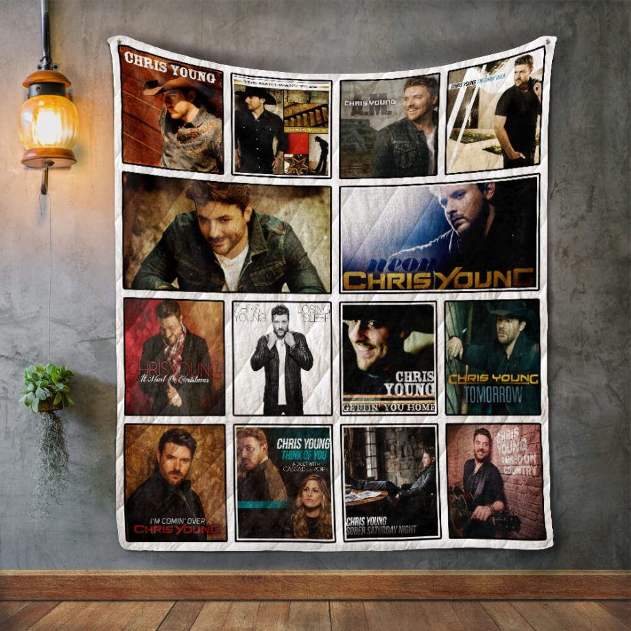 Chris Young Album Covers Quilt Blanket
